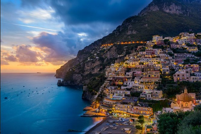 Sunset tour of the Amalfi Coast plus dinner.
