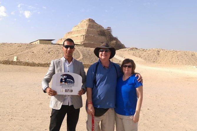 Private Day Tour to Giza Pyramids, Sphinx, Sakkara and Memphis