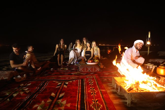 Dubai Overnight Safari: Red Dunes, Camel Trek& BBQs at Al Khayma Camp