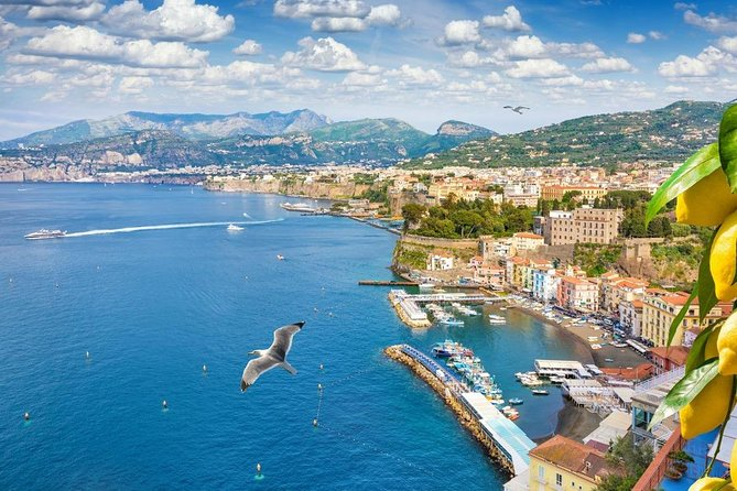 Transfer from Naples to Sorrento or reverse (W. Stop Pompeii or Ercolano 2hrs)