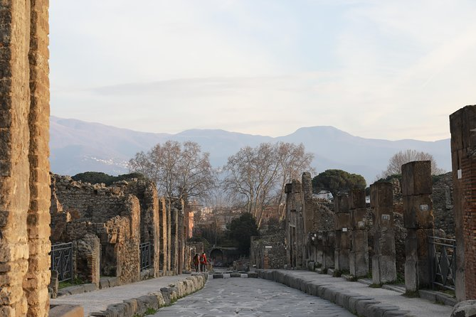 Exploring Pompeii ruins with an archeologist