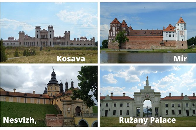 4 Castles for 1 private tour from Minsk - Mir, Nesvizh, Kosava and Ružany Palace