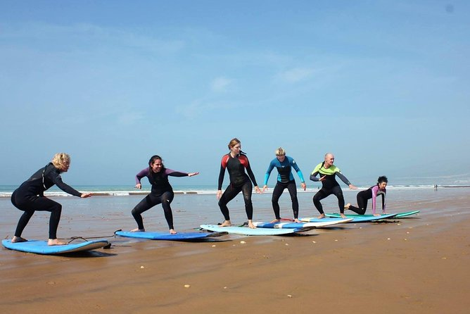 Agadir Beach Surfing Lessons with Pickup