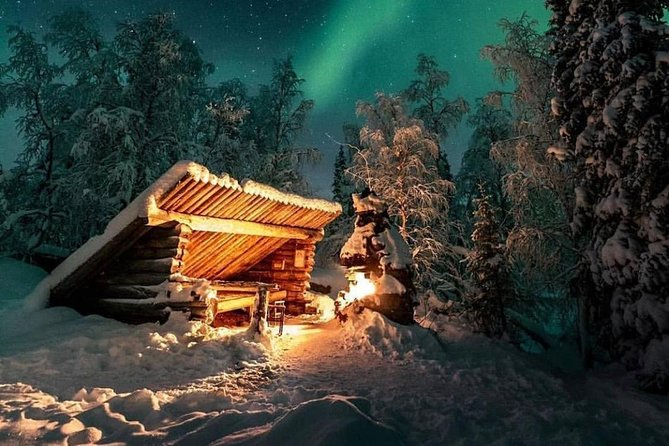 Aurora Borealis with Santa Claus