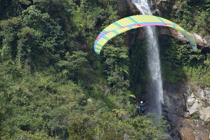 Stunning ATV 1.5hr + awesome PARAGLIDING over giant waterfalls from MEDELLIN