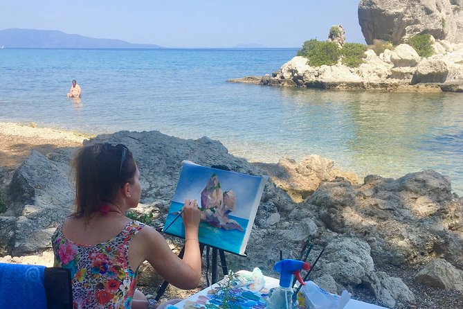 Painting Workshops in Cephalonia, Greece, 2 Days MetaxArt W/p