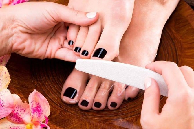 Japanese floral blossom pedicure 40 USD