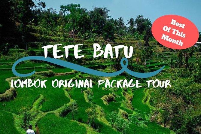 Tete Batu, Rice Terrace View with Waterfall, Original Lombok Tour