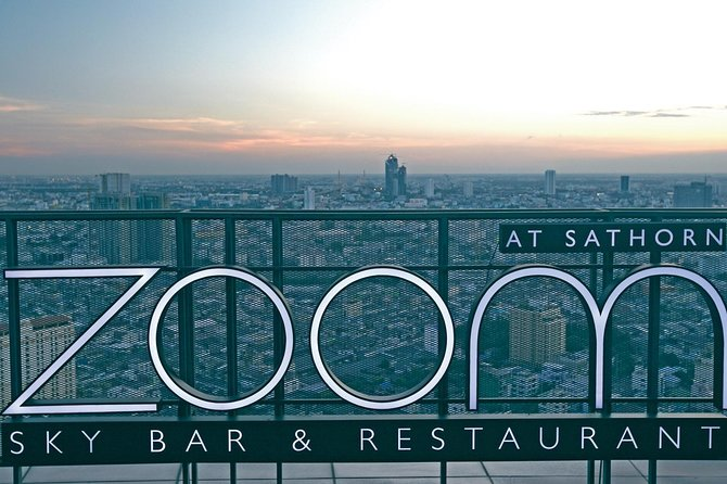Zoom Rooftop Skybar Dining At Anantara Sathorn