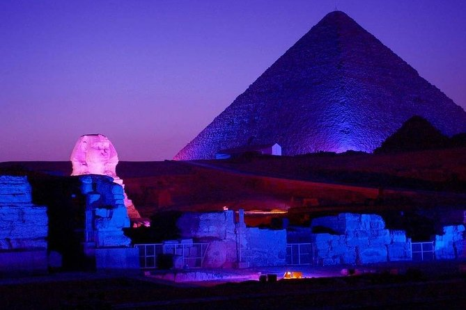 one hour sound and light show from Cairo or Giza hotels