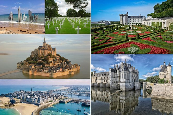 Mont St. Michel, D-Day Beaches & Loire Valley Castles, 3-Day Private from Paris
