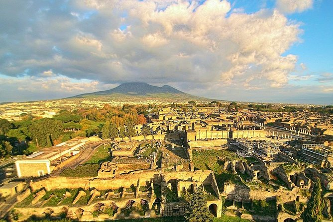 Vesuvius, Pompeii Ruins, experience vineyards and the winery tour with lunch.