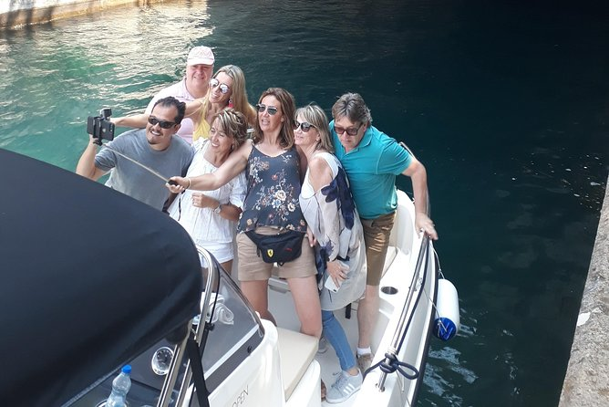 Four hour boat excursion with blue cave swimming and beach brake