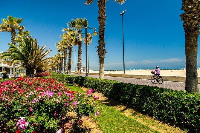Boardwalk at the beautiful Malvarrosa Beach.