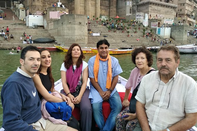 Morning boat and old city tour with official tour guide in varanasi photo 2
