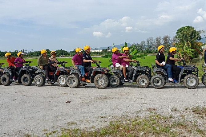 feel the amazing experience with atv ride throughout paddy fields