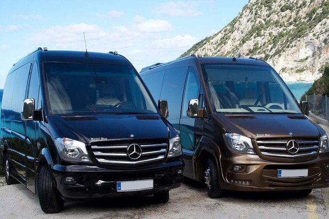 Arrival Private Transfer Kephalonia Airport EFL to Argostoli in a Minibus