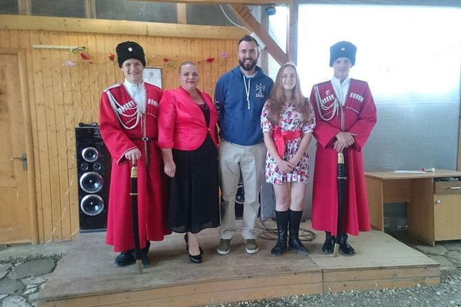Trip to Natalia`s family household. Local food, Cossack customs and traditions