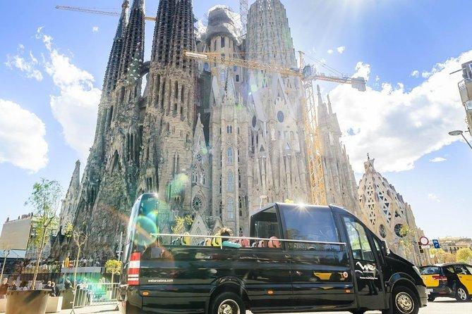 Barcelona Highlights, Luxury Open Minibus & Fast-Track Ticket to Sagrada Familia
