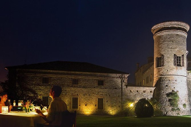 A fabulous night at a castle in Parma hillside