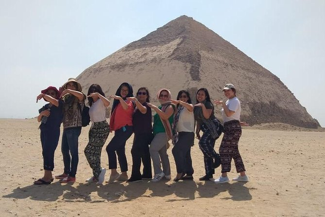 Giza Pyramids, Sphinx, Saqqara, Dahshur with Lunch and Camel Ride