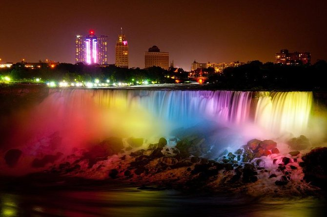Niagara Falls Canadian Side Evening Illuminations Tour From Canada