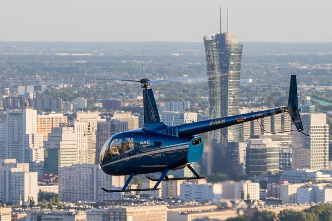 Helicopter tour with a glass of sparkling wine with pick up and drop off