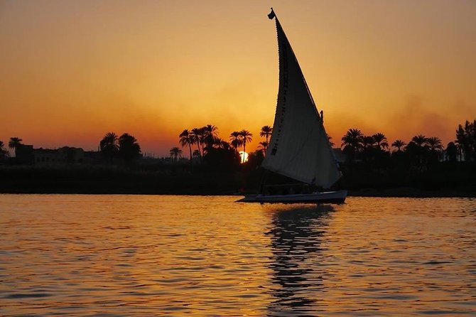 Luxor Nile River Felucca Ride to the Banana Island at Sunset