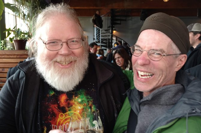 Alan met John Harris of Ecliptic Brewing. Quite a thrill.