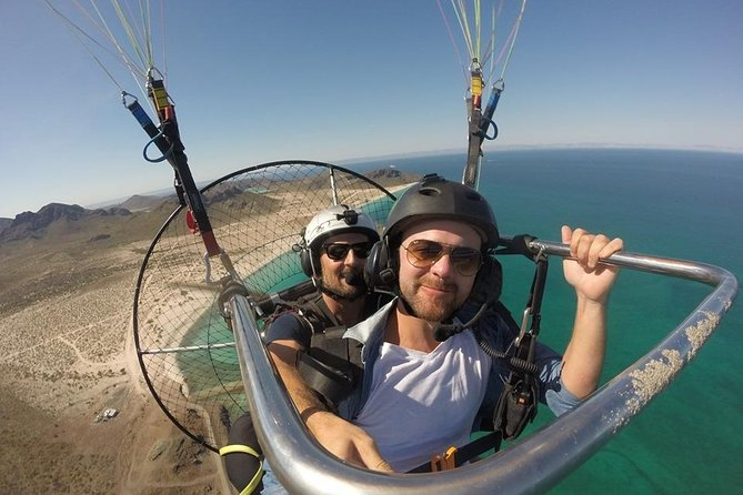 Bucket list level in Cabo! Whale watching from a motorized paraglider!