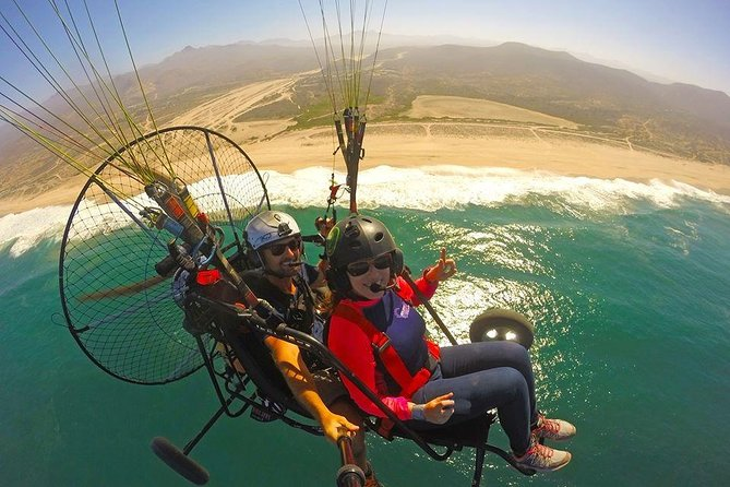 Can't get on the water? See Cabo from a Motorized Paraglider! Bucket list level