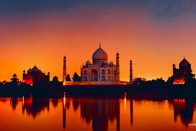 Taj Mahal Sunrise & Sunset Overnight Tour