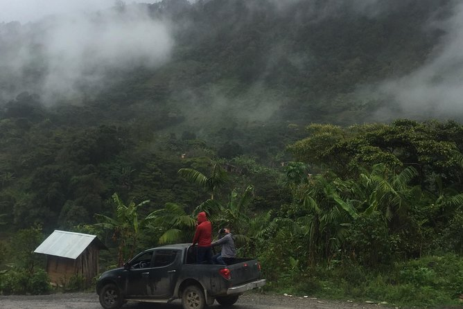 Hike in pristine Forest, a view from above Atitlan