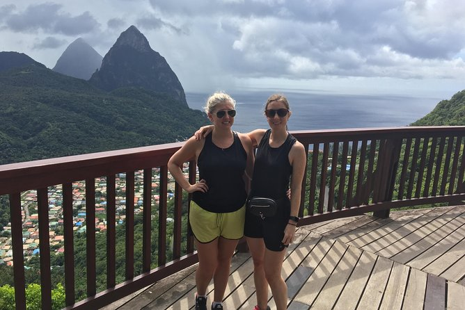 Finished hiking Gros Piton. Getting their photos.