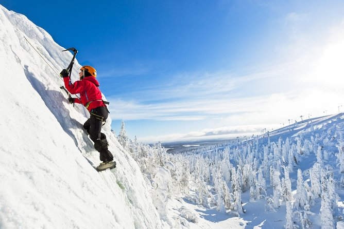 Ice Climbing in Ruka Ski resort