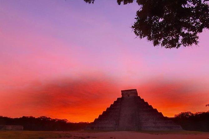 Chichen Itza Sunrise and Cenote Ik Kil from Playa del Carmen