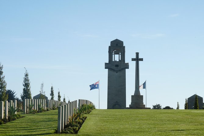Somme Battlefields Day Tour from AMIENS station including Villers Bretonneux