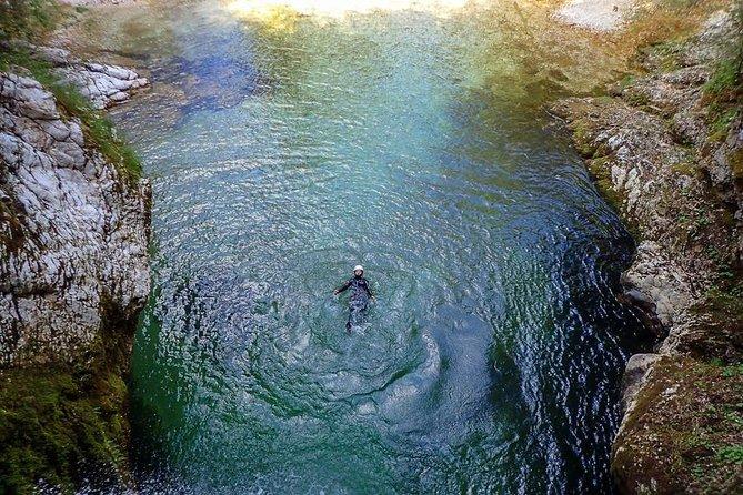 Canyoning, Swimming near Lake Bled