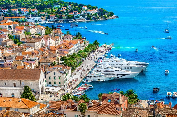 From Split: Private Zlatni rat beach (Golden horn) & Bol with Hvar tour