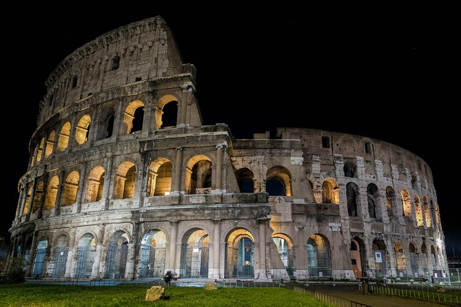 VIP Colosseum at Night Tour with Underground and Arena Floor