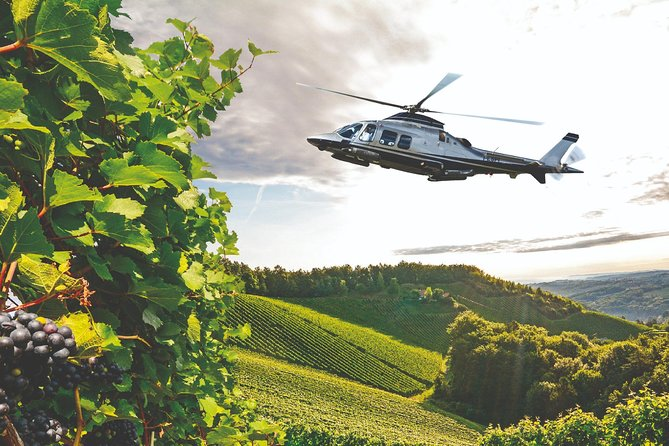 Helicopter Wine Tour with Pickup in Florence