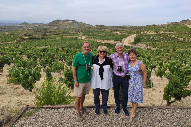 La Rioja two wineries visit with wine tasting and pintxos in small group tour