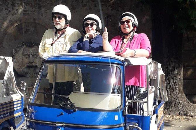 Rome On board of the Ape Piaggio Calessino