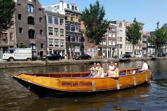 Original Dutch Design Boat! 75-Minute Live Guided Boat Tour! Max 20 Guests!