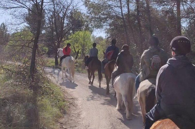 Horseback riding through Montserrat