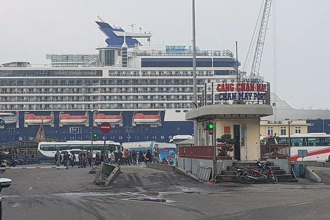 Cruiseship Tour :Dragon Bridge, Marble Mountain,Hoi An City: CHAN MAY or TIEN SA