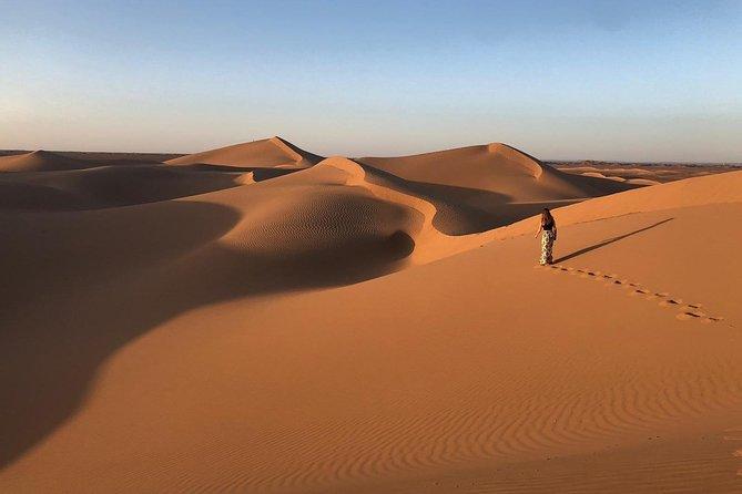 Overnight in a desert camp