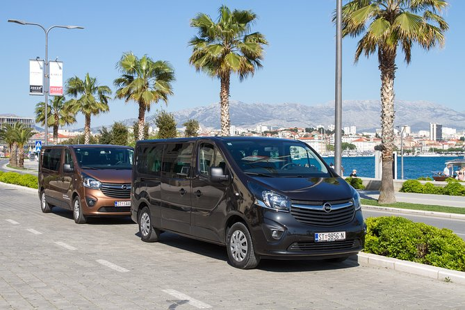 Private transfer from Split airport to Split, 1-8 person