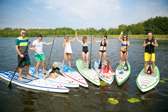 Stand Up Paddling course in the city harbor