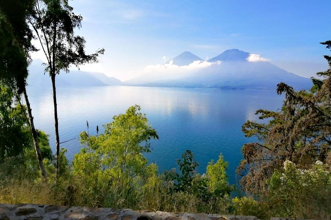 The one of many amazing views of the lake and volcanoes